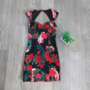 GUESS Floral Mini Bodycon Dress size 2